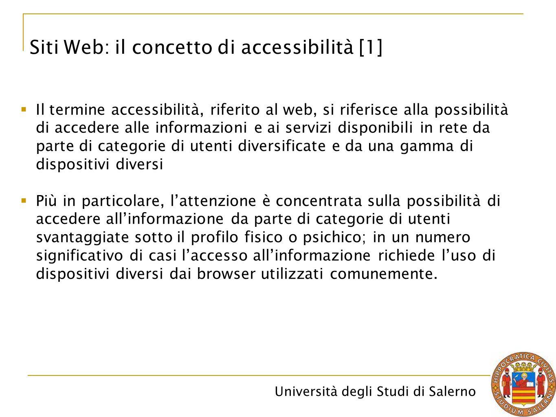Siti Web: il concetto di accessibilità [1]